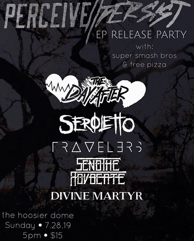 This is TOMORROW! We get to help our friends over at @perceivepersist celebrate the release of their new EP!!! Who are we gonna see there?!?! #metal #metalcore #djent #show #breakdowns #indymusic #supportlocals #eprelease