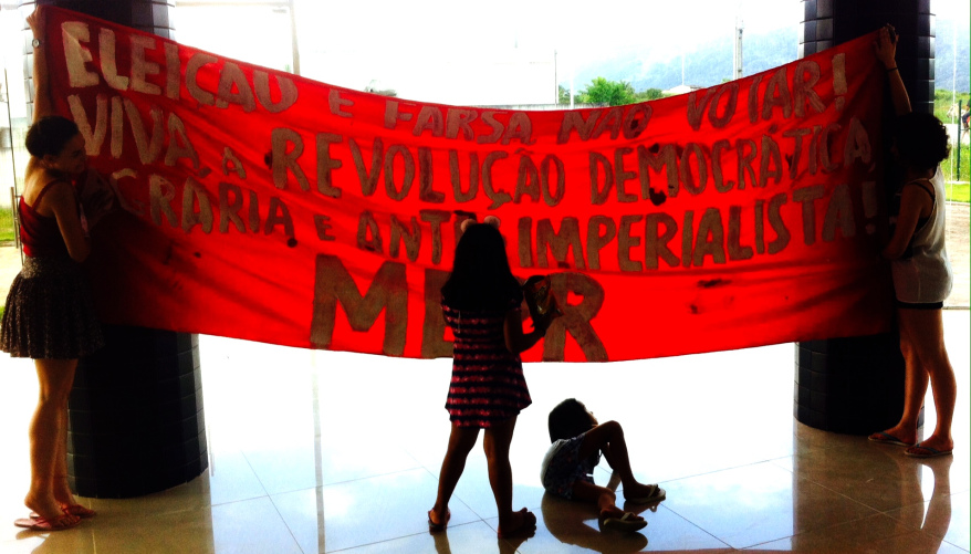 """""""Elections are a farce – don't vote – long live the rural and anti imperialist democratic revolution! MEPR."""""""