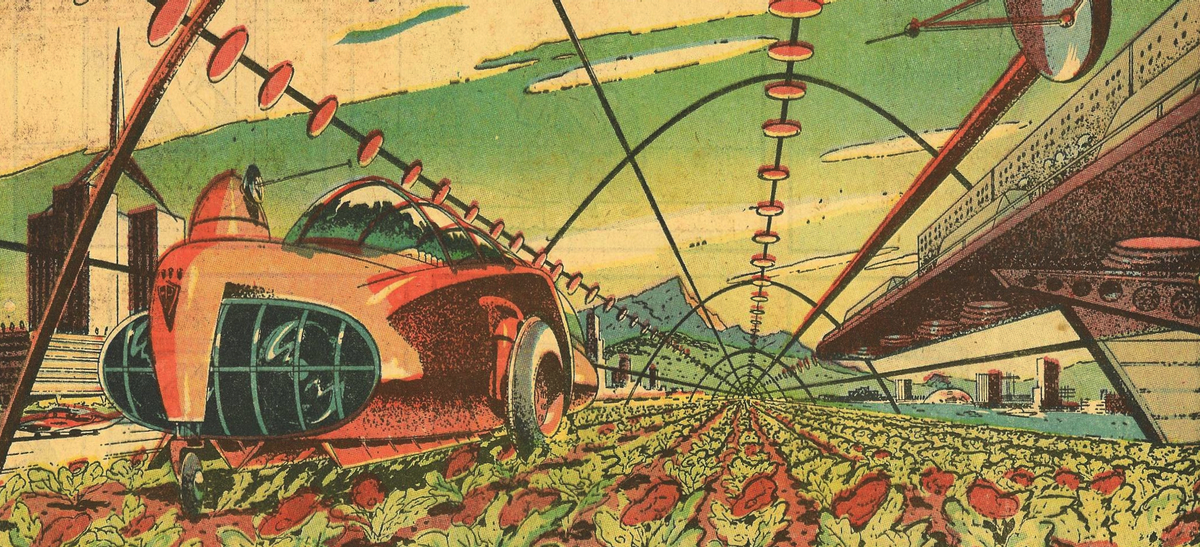 A futuristic vision of farming (Arthur Radebaugh, public domain)