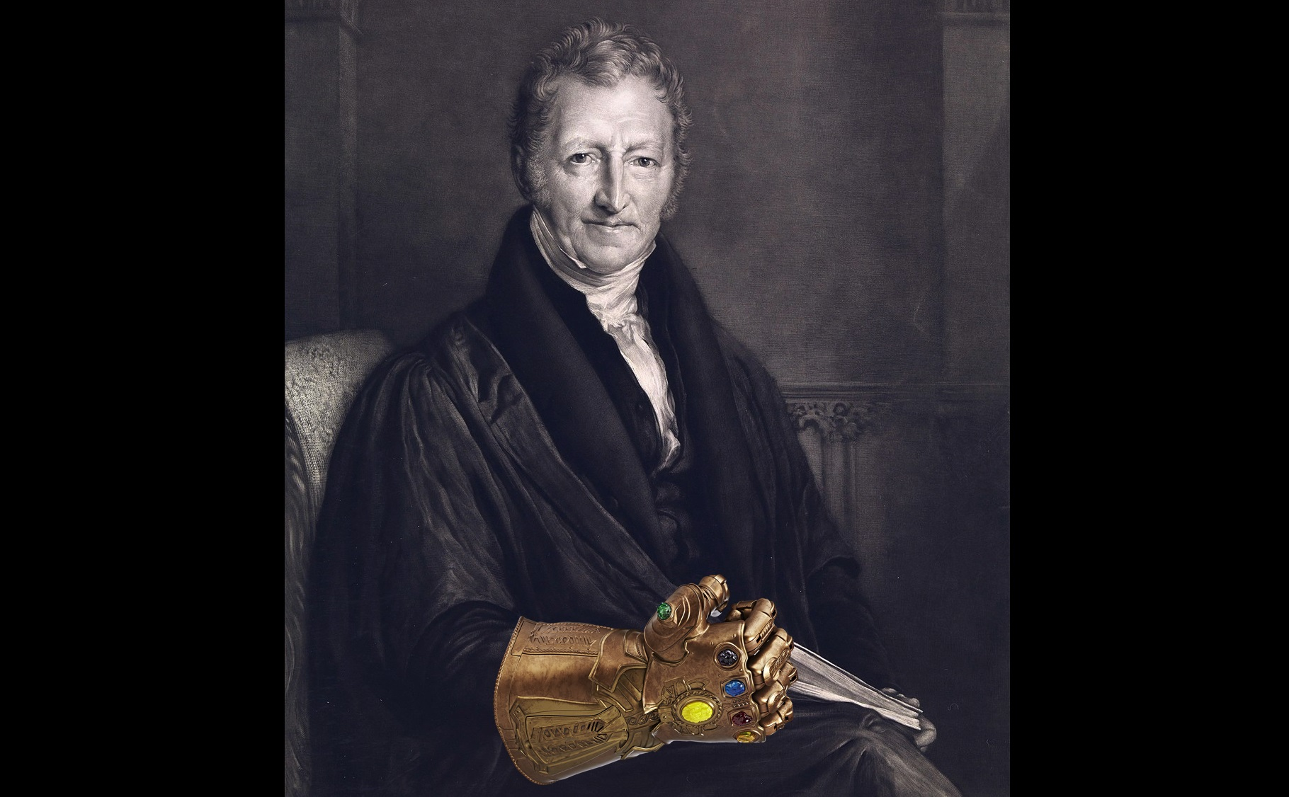 Thomas Robert Mathus and the Infinity Gauntlet