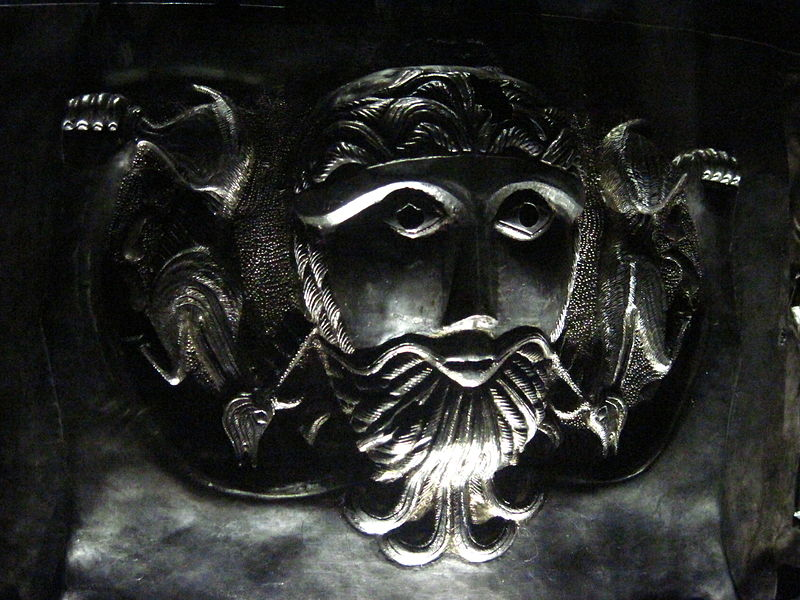 Figure from the Gundestrup Cauldron. Public Domain.