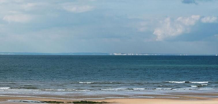 England, as viewed from Calais across La Manche (the English Channel)