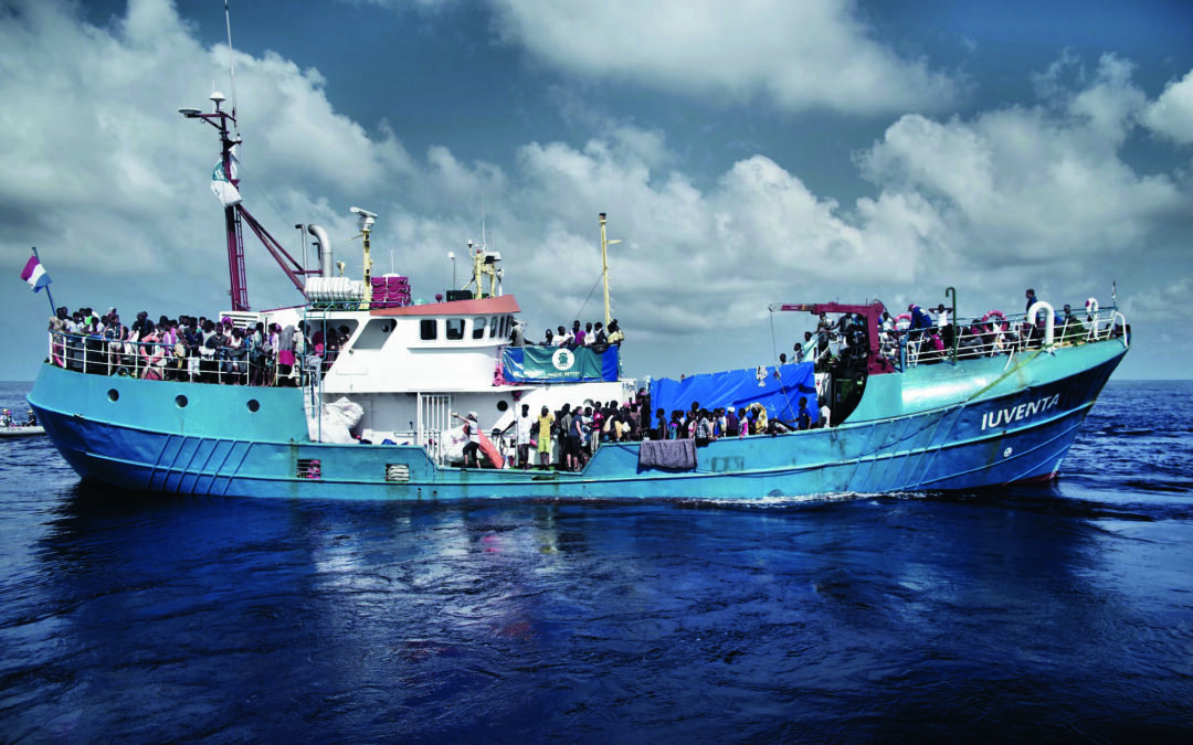 Iuventa, one of several ships dedicated to rescuing refugees from drowning at sea.