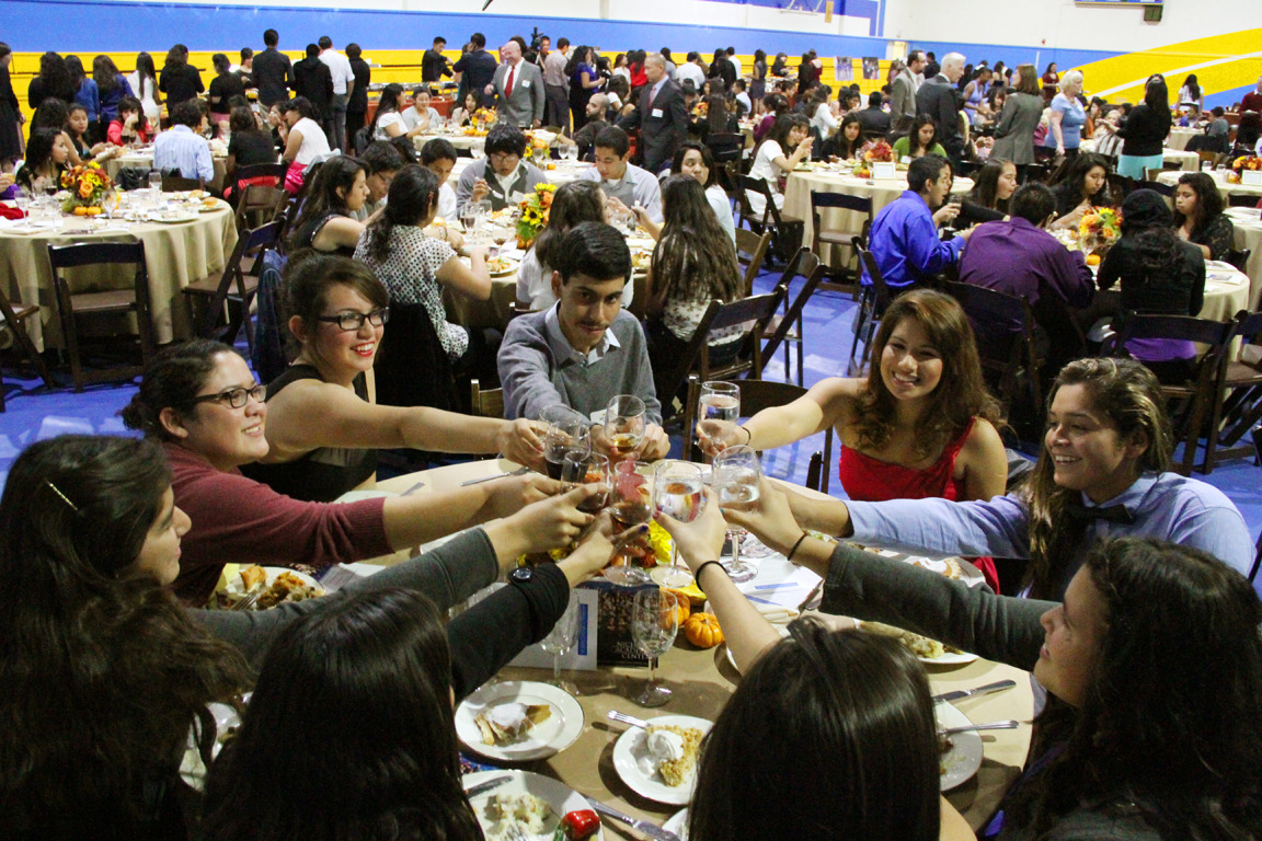Nicholas Academic Centers' students dig in on the NAC's 4th Annual Thanksgiving