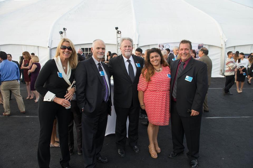 Dr Miller, Gerry Ox, other SAUSD members attending the 2014 graduation