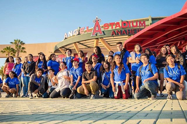 NAC Scholars watched the Los Angeles Angels defeat the Seattle Mariners on Friday, July 27th, 2018. Just one of the many field trips the Nicholas Academic Centers provides over the summer to their students to enrich their academic and social lives. #nac #nacscholars #angels #baseball #htnfoundation #henrytnicholas #nonprofit