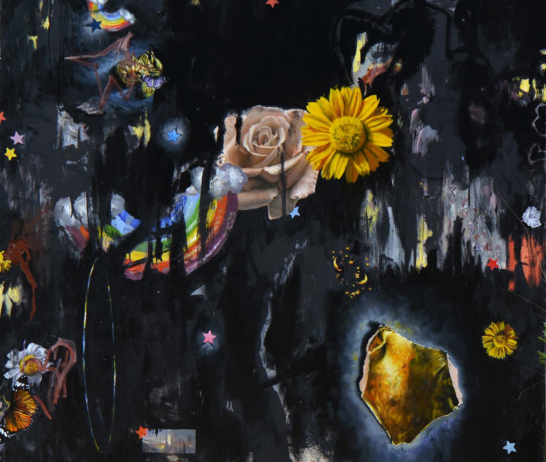 אמיר שפט, אמש, שמן על בד, 2019 | צילום באדיבות האמן