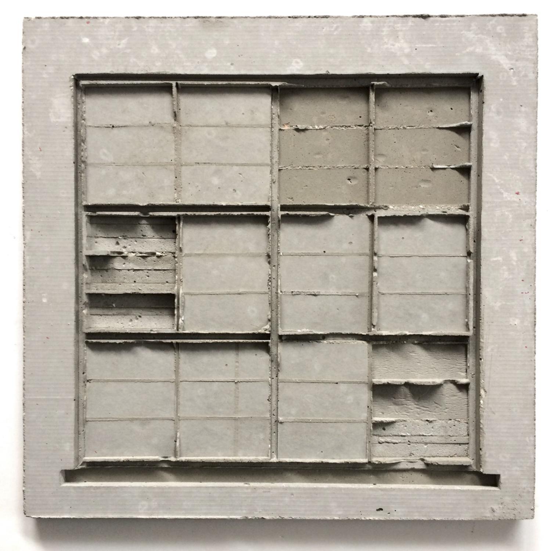 שרון פזנר, חלון אחורי, יציקת בטון, 2019