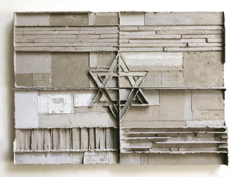 שרון פזנר, דגל, בטון וברזל, 2019