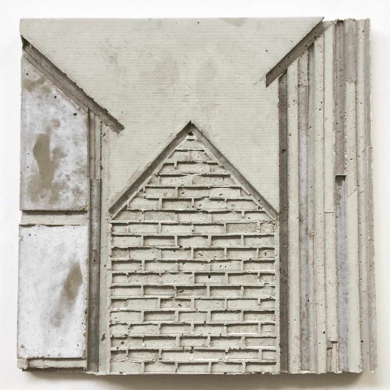 שרון פזנר, בין לבין, יציקת בטון, 2018