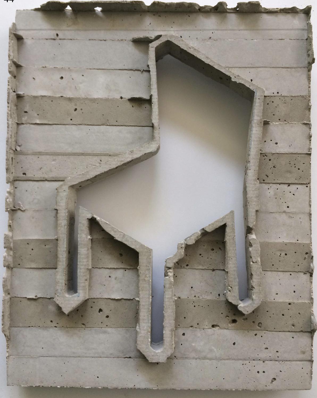 שרון פזנר, כסא, יציקת בטון, 2018