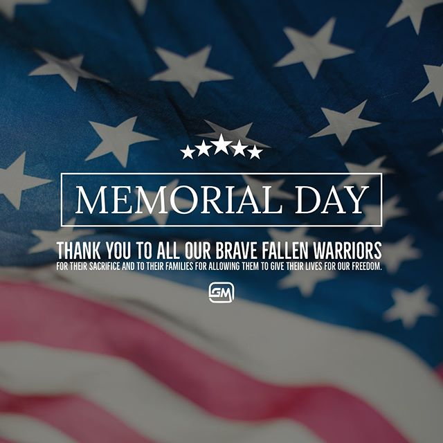 🇺🇸 Thank You To all past, present and fallen soldiers. Today we honor you, salute you for defending our country and our freedom🇺🇸 Happy Memorial Day from GMG ❤️