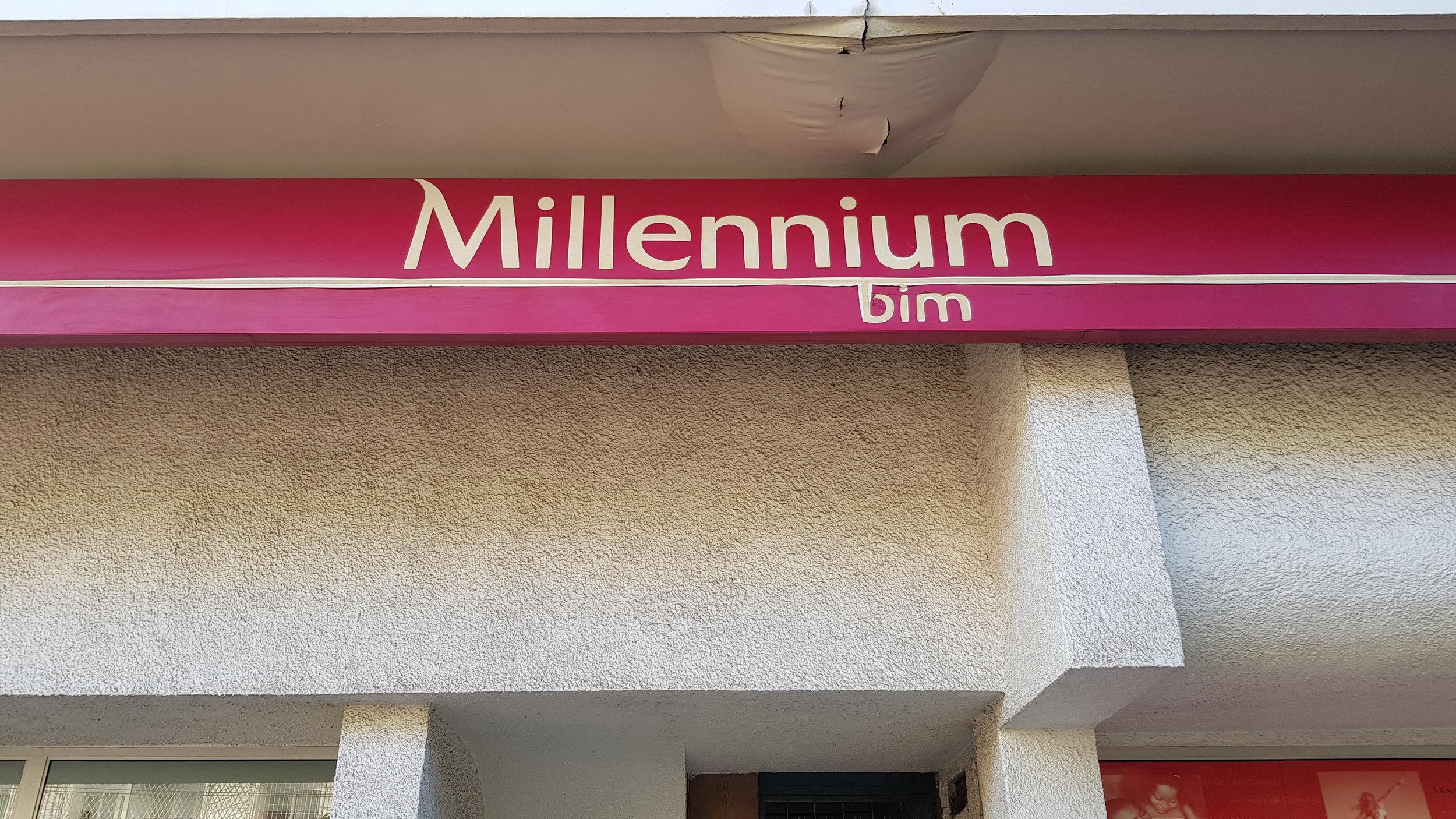 Fachada do Millenium, um dos principais bancos de Moçambique