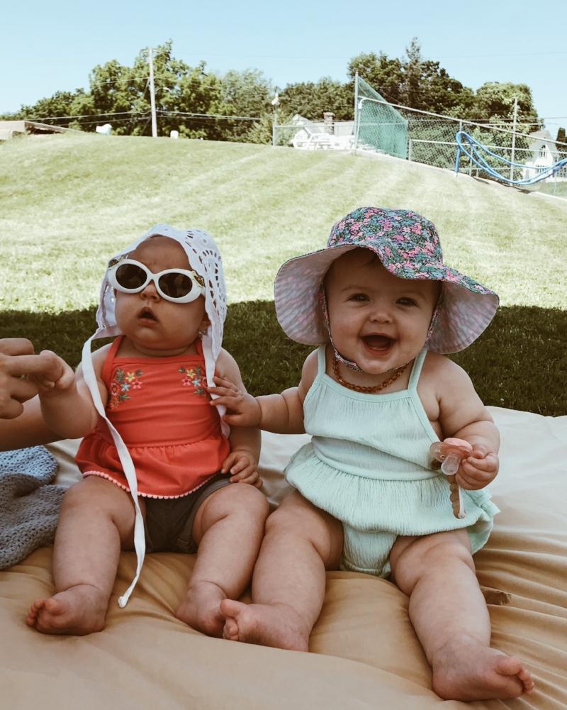 The cutest cousins at the pool! Auri + Elsie!