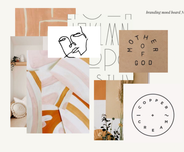We are so excited to be working with the uber talented Cristina form  Cautiously Obsessed  on our logo and branding. Isn't this mood board she created just stunning?!