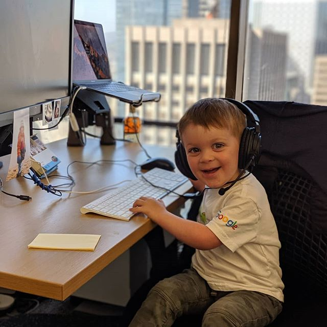 Take Your Kids to Work Day was a very fun day