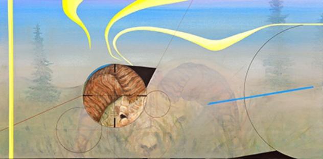 "Memories 5    Acrylic on canvas, 18""x36"""