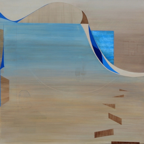 """Memories 2    Acrylic on wood, 24""""x24"""""""