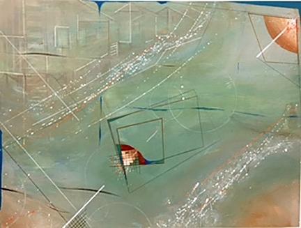 """Memories 6    Acrylic on wood, 18""""x24"""""""