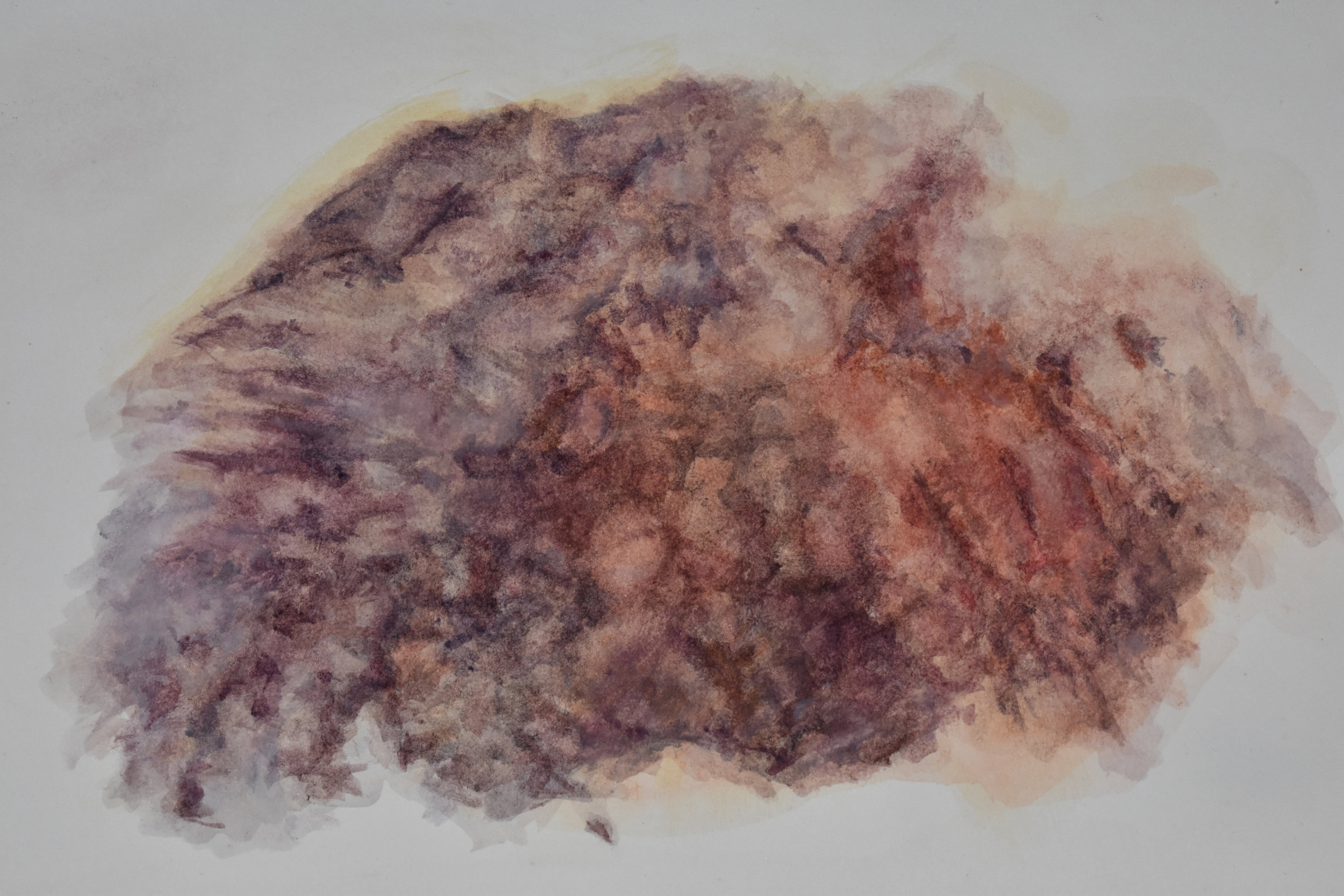 Bruise from the Girl at the Coffee Shop,  Watercolor, 2018