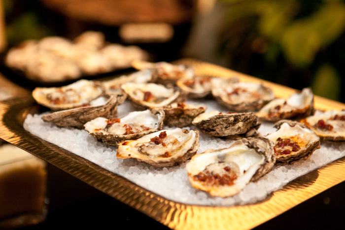 Grilled Oysters with Savory Twist