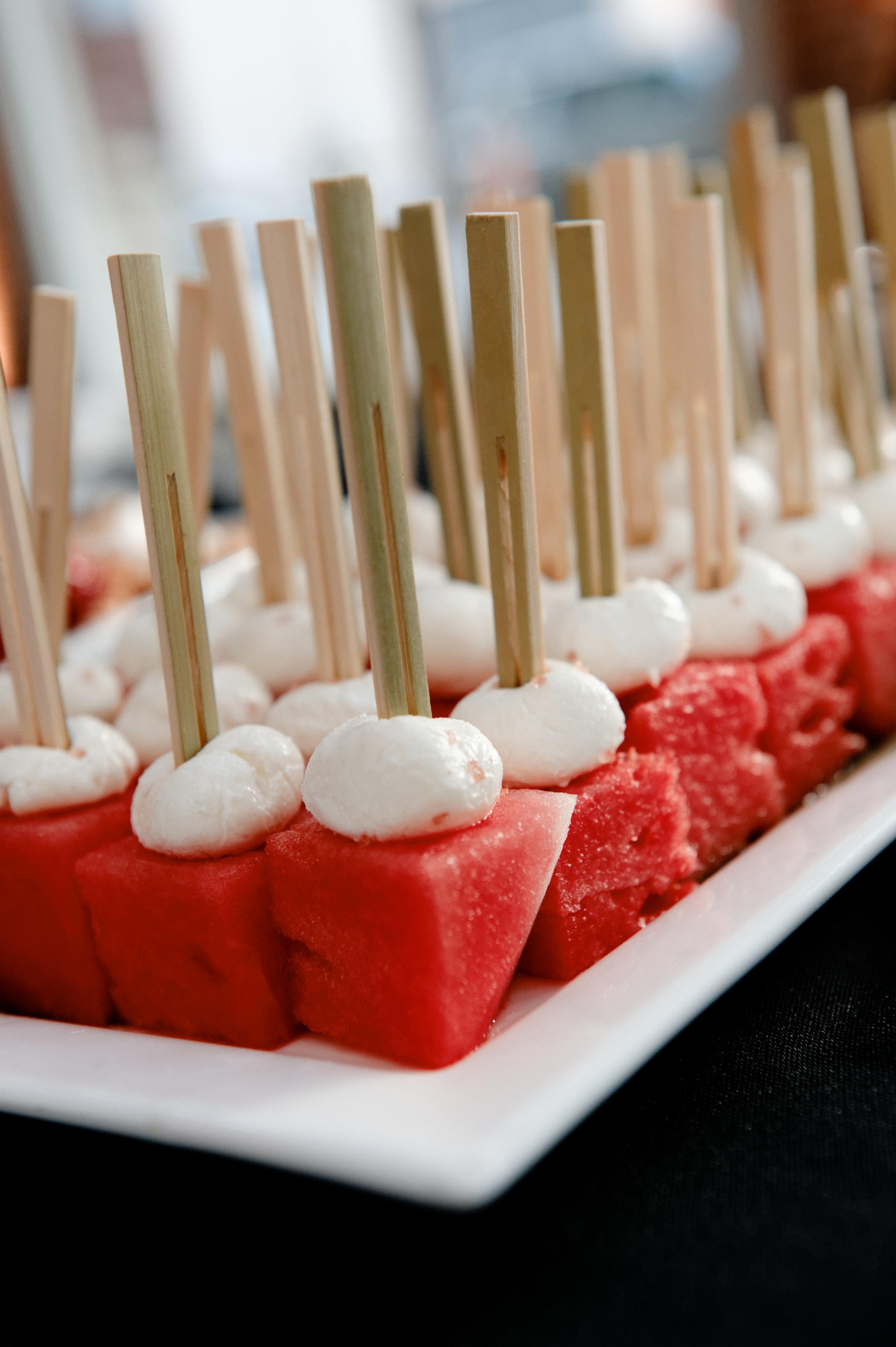 Watermelon & Goat Cheese Bites