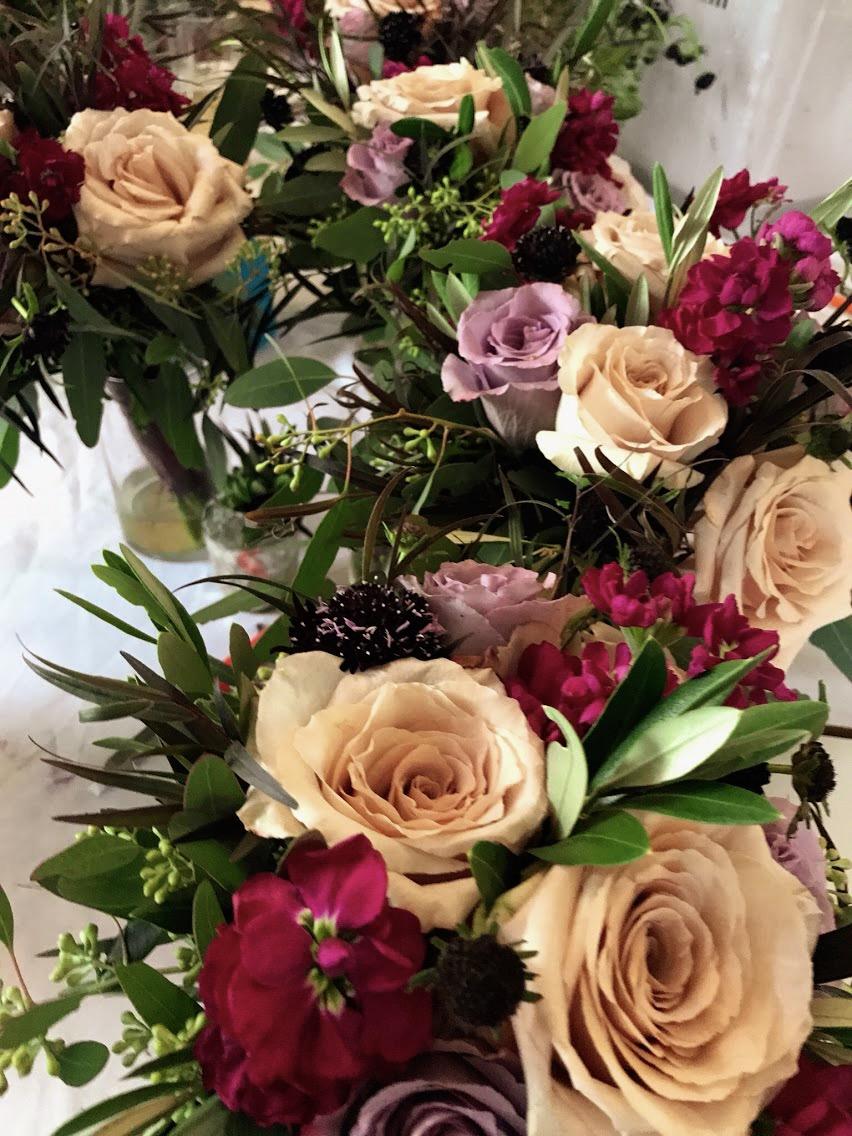 Amethyst & Blush Bridesmaid Bouquets