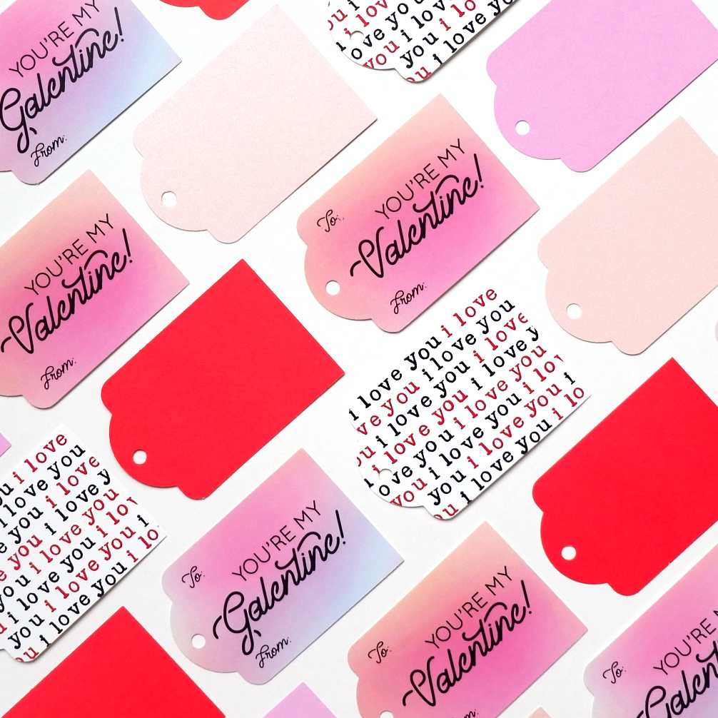 All the pinks and reds! - With Valentine's Day just around the corner, we've got everything you need to spread a little love and magic this month. Our new collection includes folded card sets, postage stamp–shaped stickers, and gift tags.