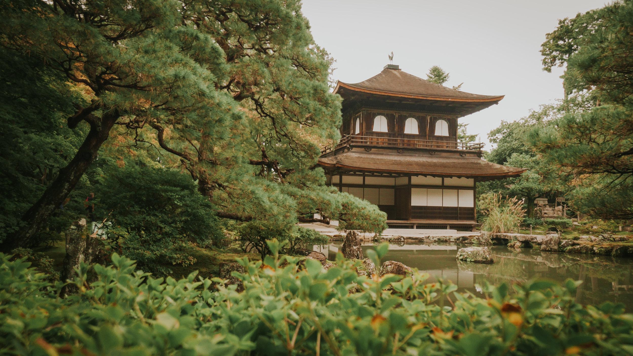 Daikakuji Temple from the pathway