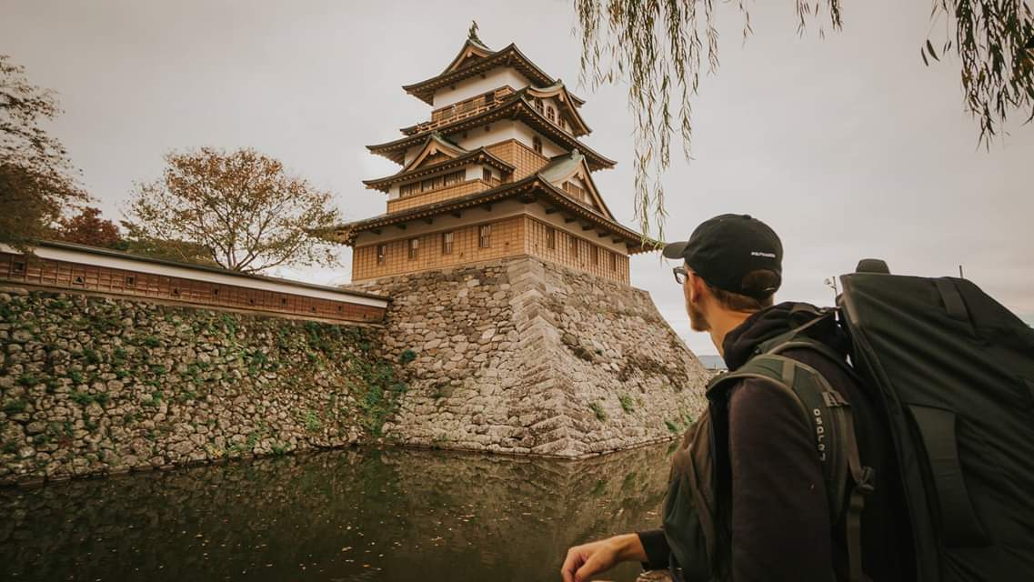 The Takashima Castle, although reconstructed, still looks mighty powerful