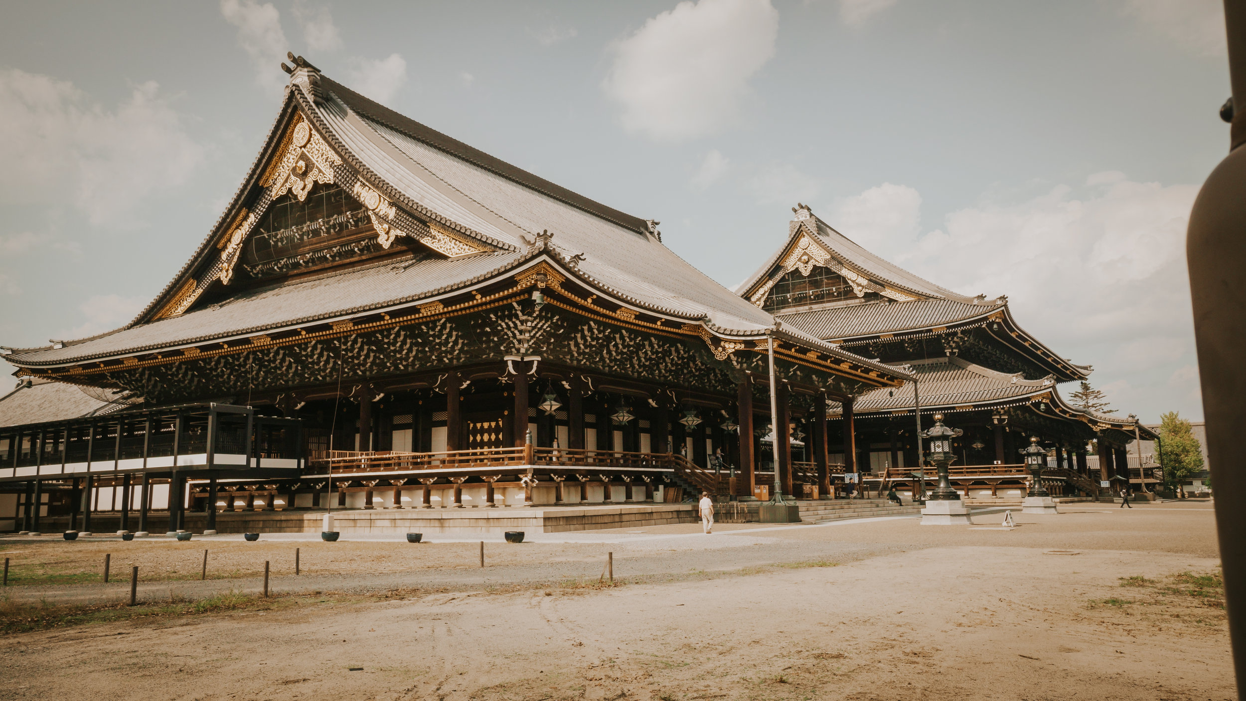 Higashi hongan temple is absolutely breathtaking in size. You have to be there to feel it.