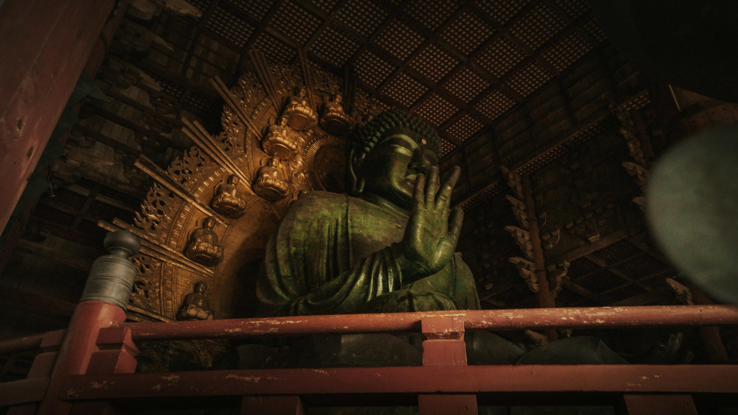 The  daibutsu  in Tōdai-ji