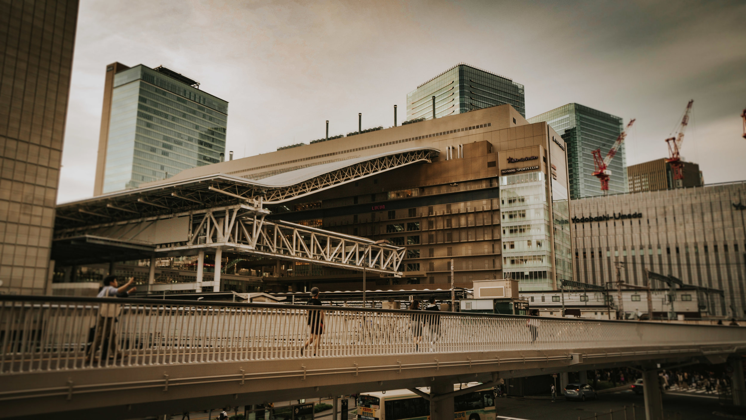 The Osaka train station is  enormous!
