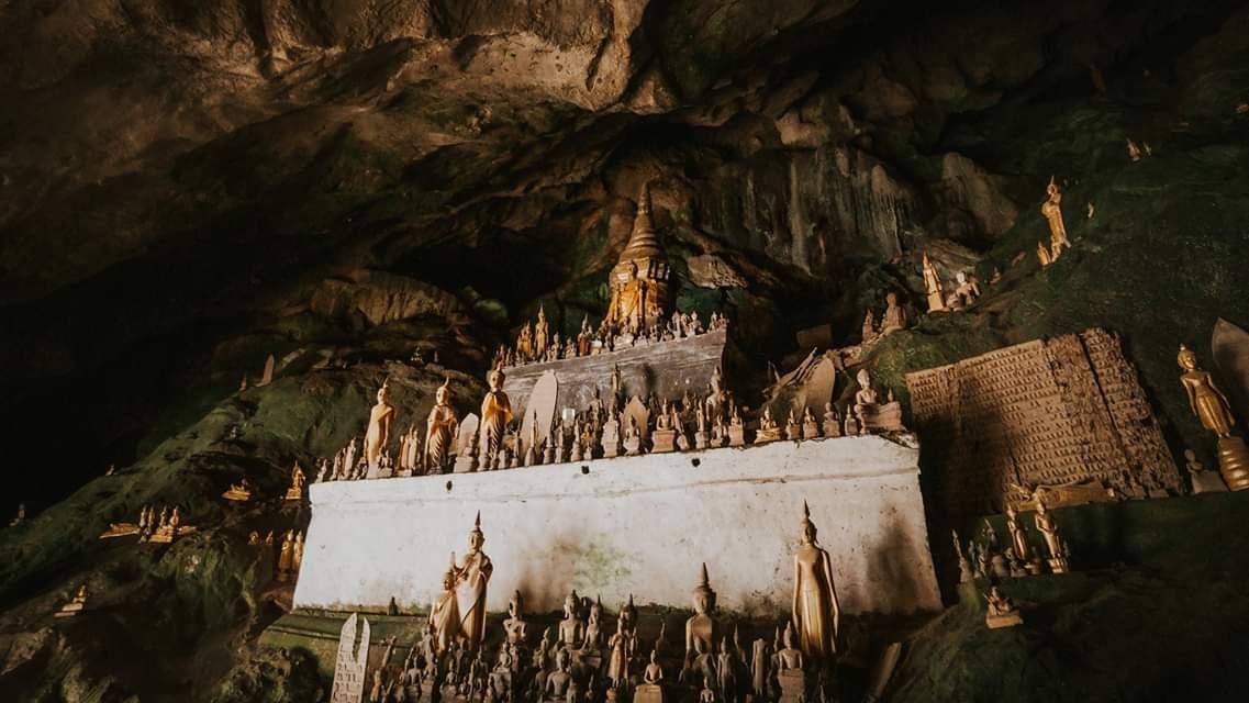 Inside the Pak Ou cave