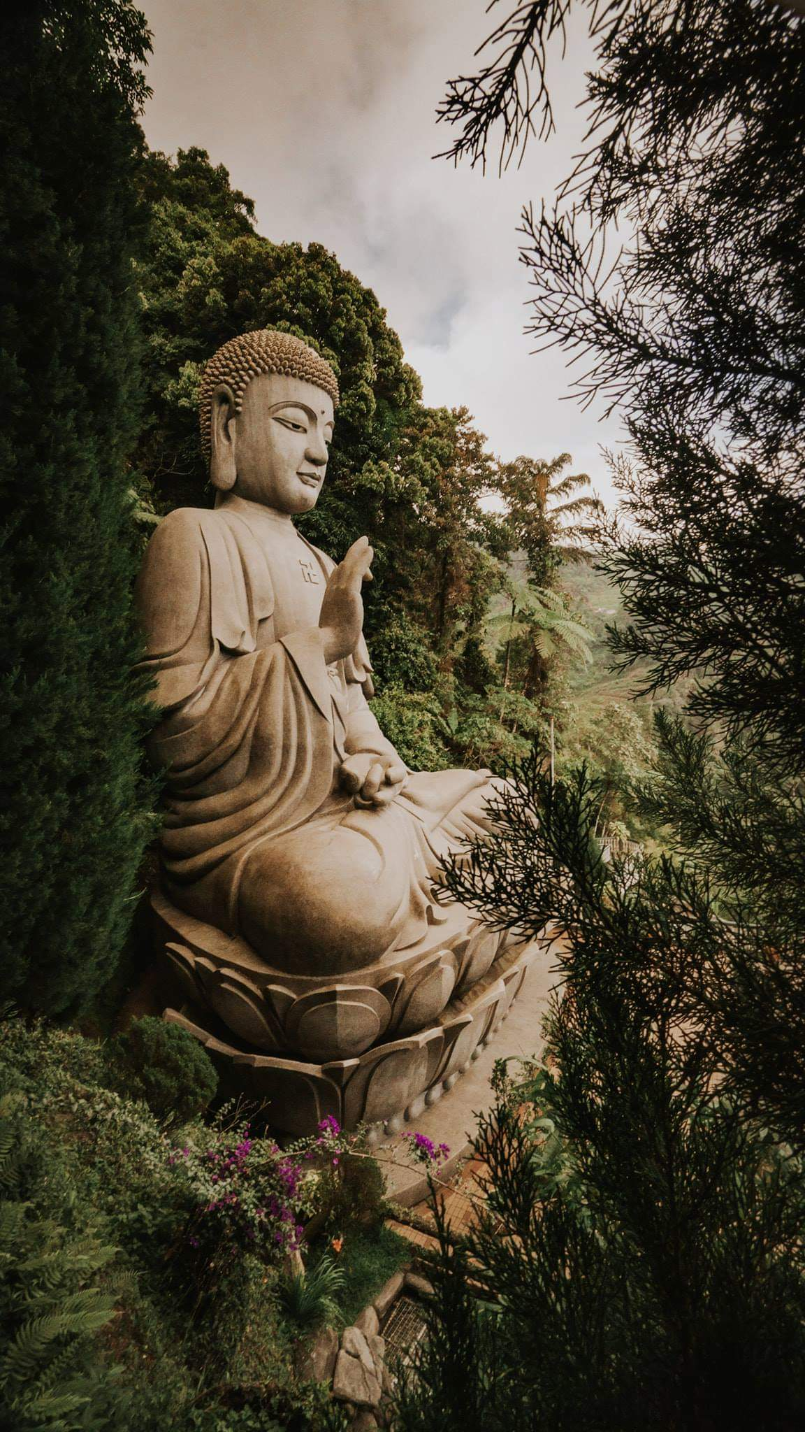 Buddha watching over the Highlands
