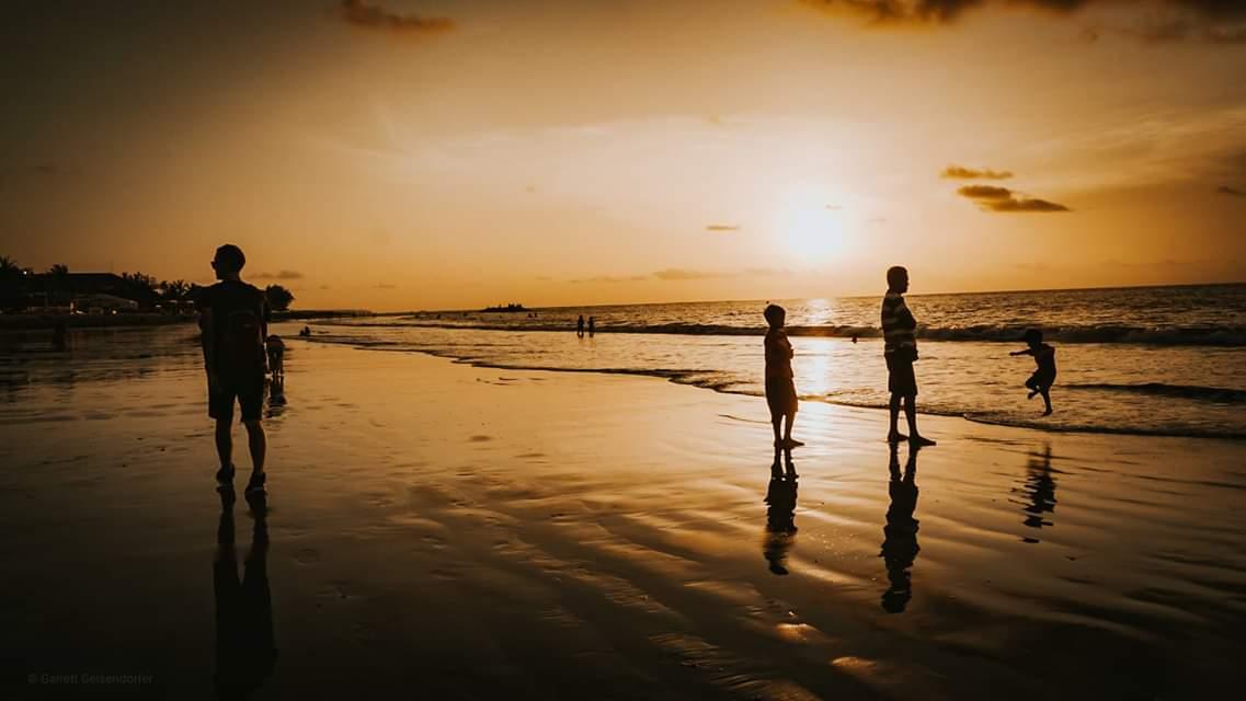 Sunset on Kuta Beach