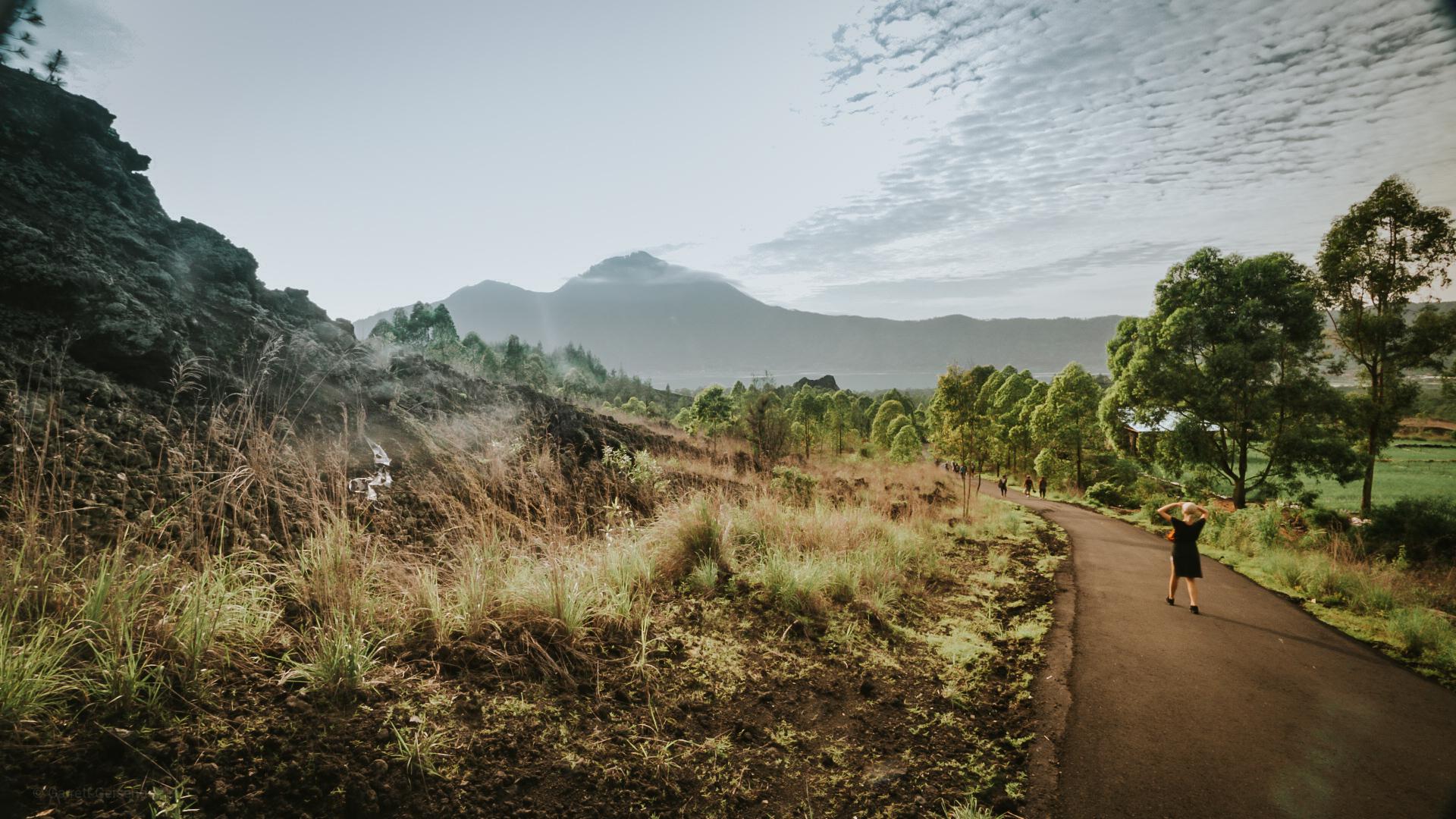 Road to Mt. Batur