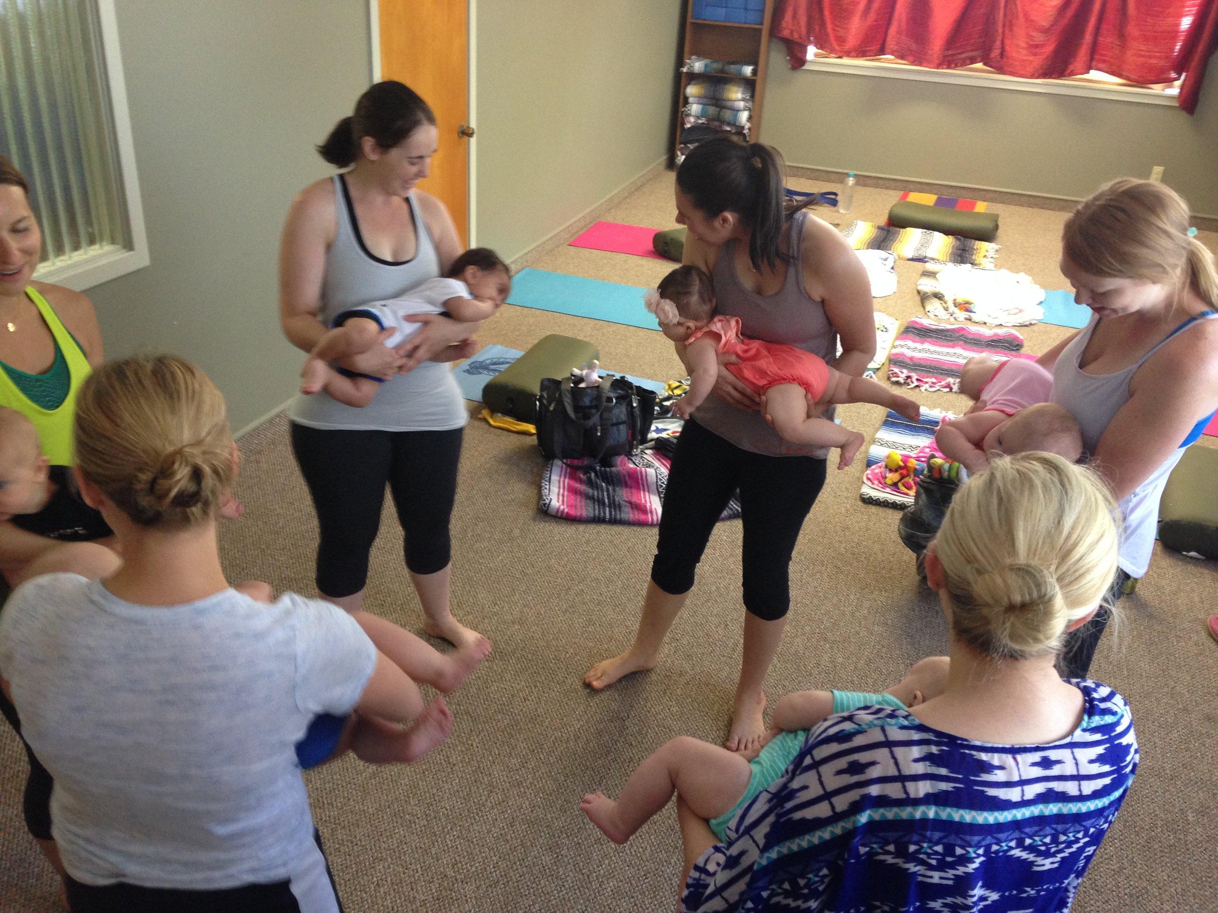 Yoga Baby & Mommy - Postnatal moms & pre-crawling babiesw/care provider oral releaseFacilitator: Sheryl Haynes