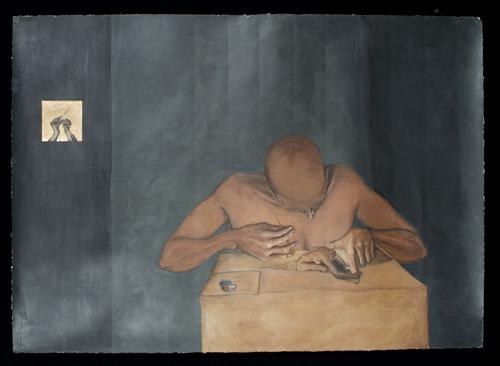 """Miércoles de Cenizas, 2004,acrylic/paper 42""""x35"""""""