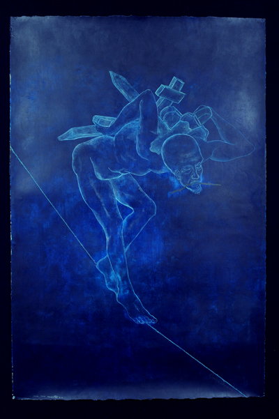 Un Nido Para Mis Muertos, 2005, acrylic/paper