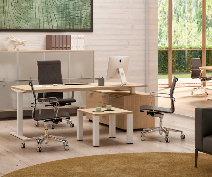 WINGLET HEIGHT - ADJUSTABLE DESK COLLECTIONErgonomic & Conscious. - Design by Perin & Topan. Made in Italy. STARTING AT: $ 1,909