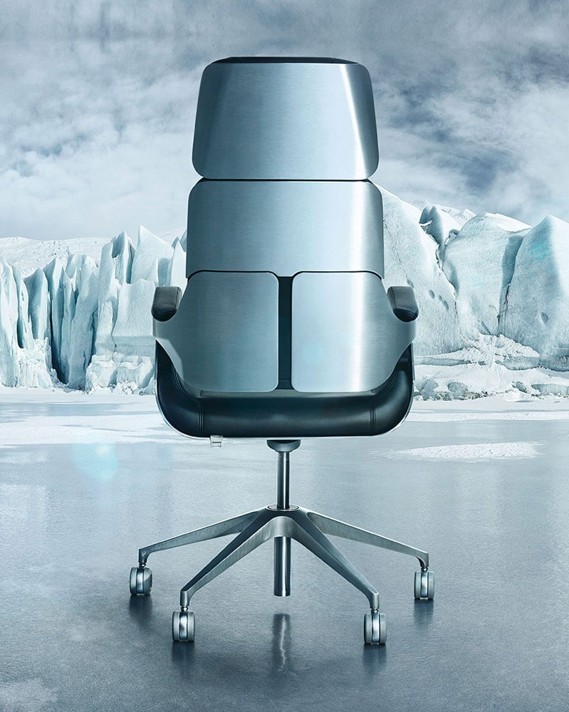 "THRONE OF STEEL - SILVER is not a just a chair, it is a statement of power, exuberance and hegemony. German top dog INTERSTUHL has changed the way we sit at work. With over 10 years in the making, this chair has enamored prominent characters all over the world. ""It's a chair for generations to come."""