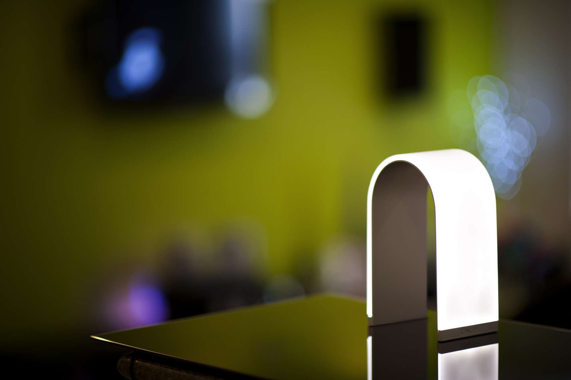 Little lamp.Big personality. - The unique, ultra thin arch shape is unlike any other lamp design.