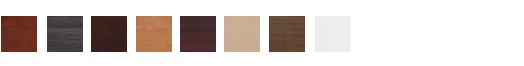 Available finishes:  Cherry, gray, espresso, honey, mahogany, maple, modern walnut, white.