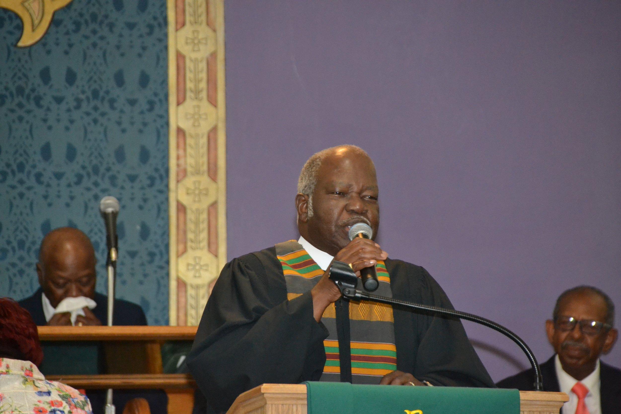 Rev. Howard grant - Rev. Howard Grant is a retired Presiding Elder. He served as a Pastor/Presiding Elder for over 40 years, and currently serves as an associate minister at Mt. Pisgah.