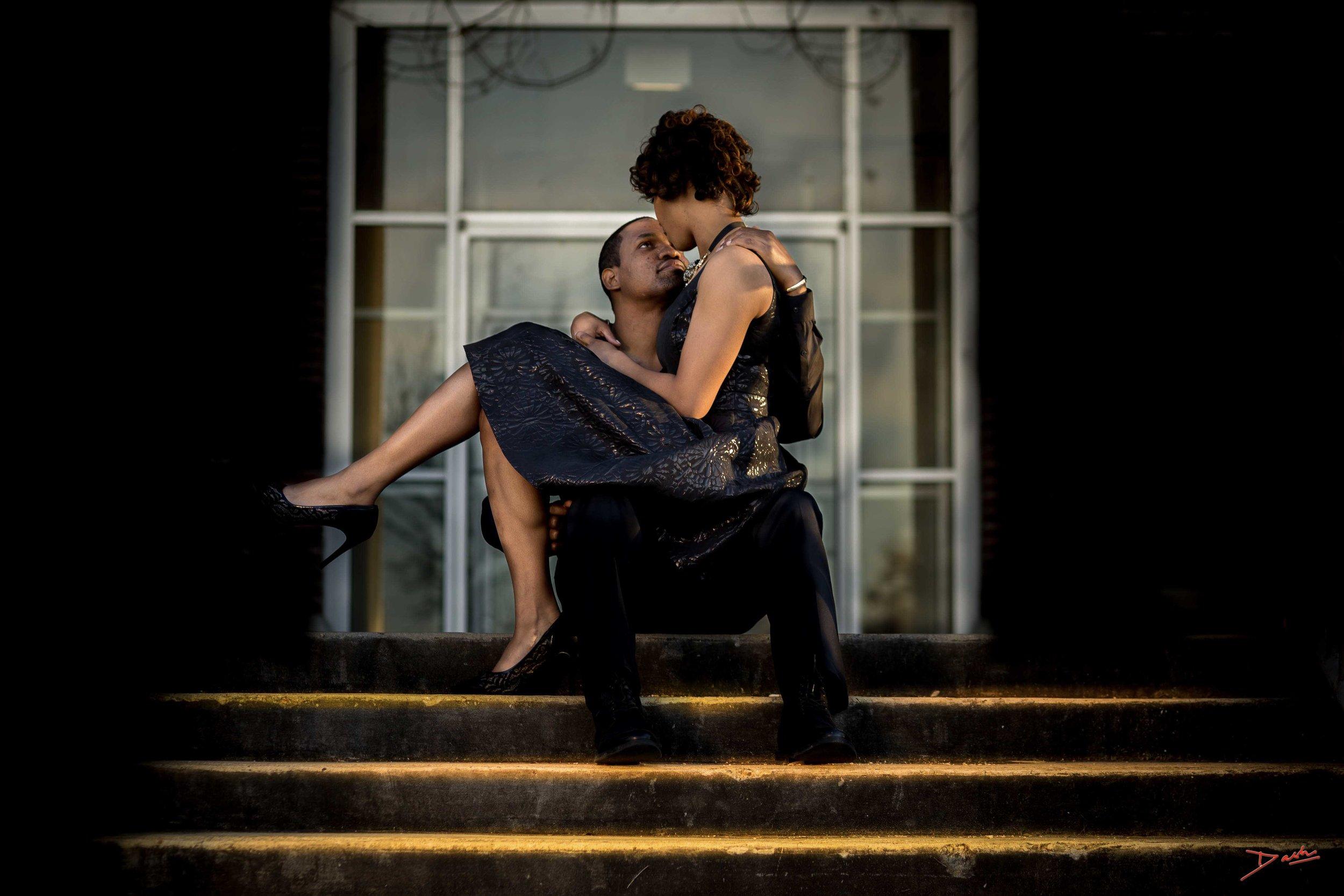 Black ethnicity couple engagement photographer in Memphis Collierville TN.jpg