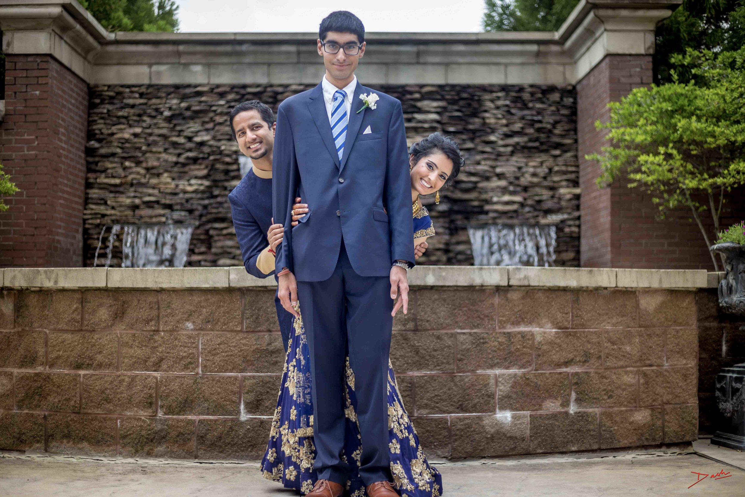 indian wedding photographer poses with Brother in law at memphis collierville tn.jpg