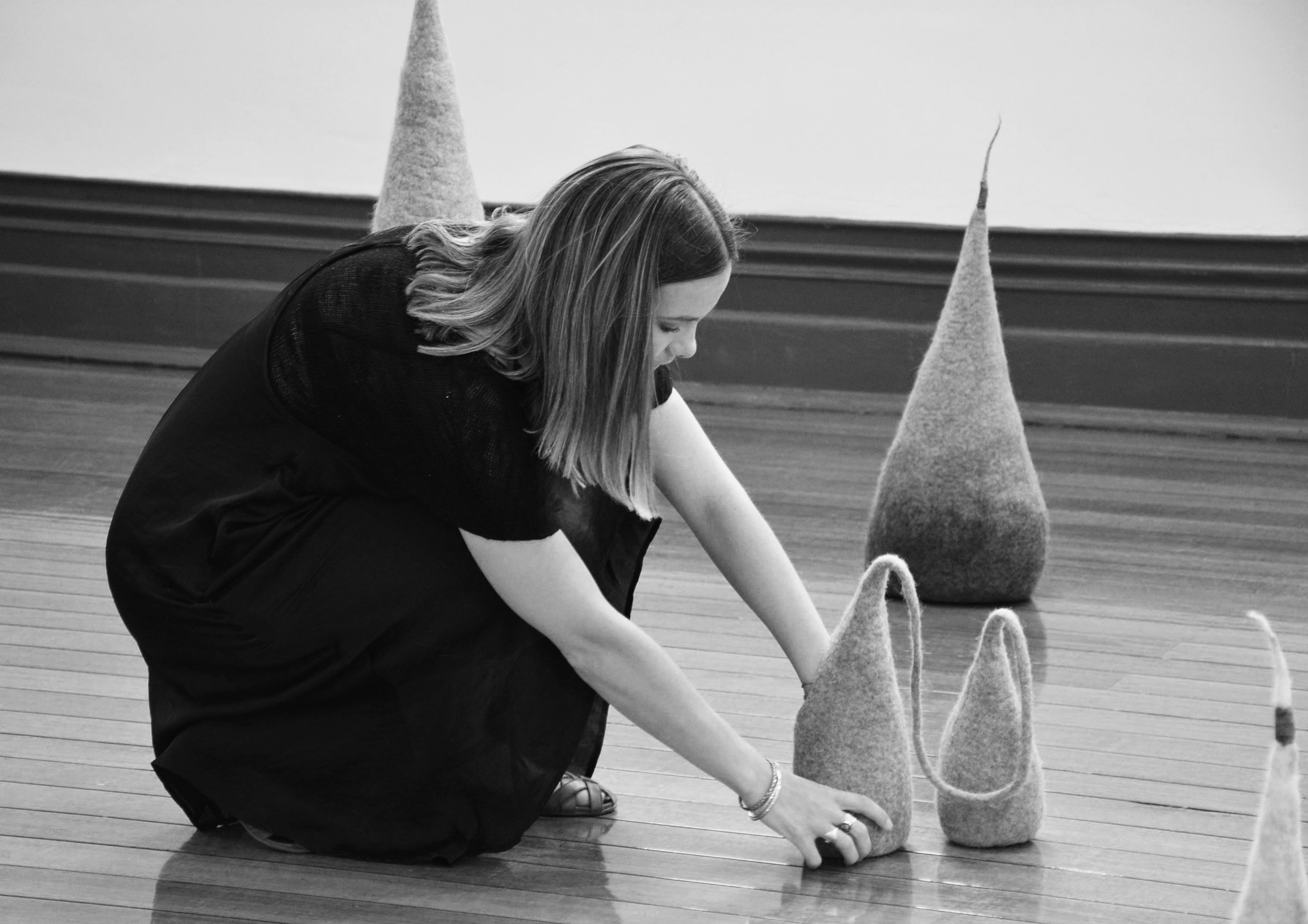 """"""" P U S H T H E M E D I U M """"   Push the Medium - Narrandera Art Centre NSW, February 2018. Featuring felt installation 'Parasites'.  Curated by Alex Wisser, Photographer and Curator of the Cementa Arts Festiva."""