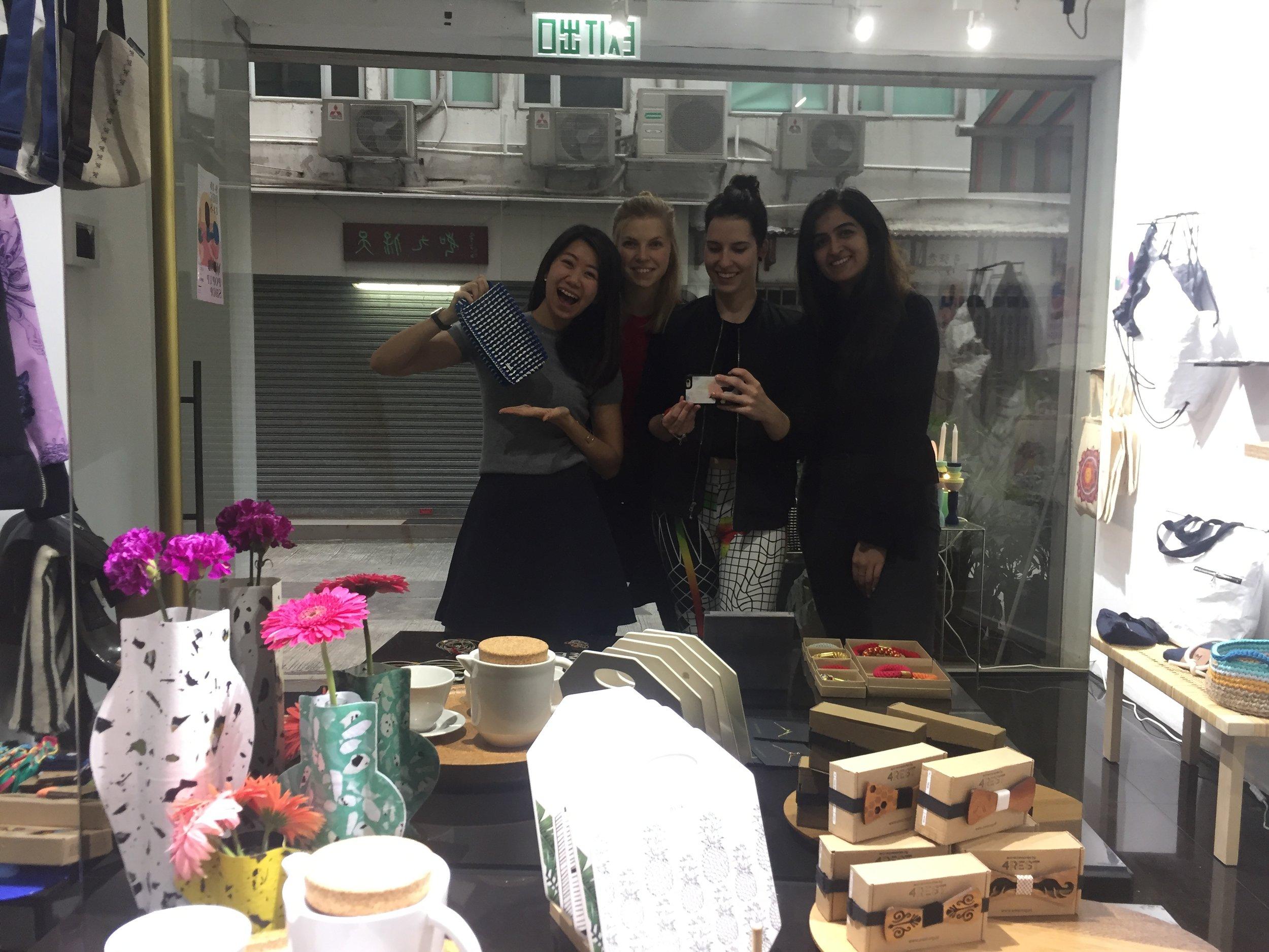 Photo with Kasia, Maria, and Bhavika