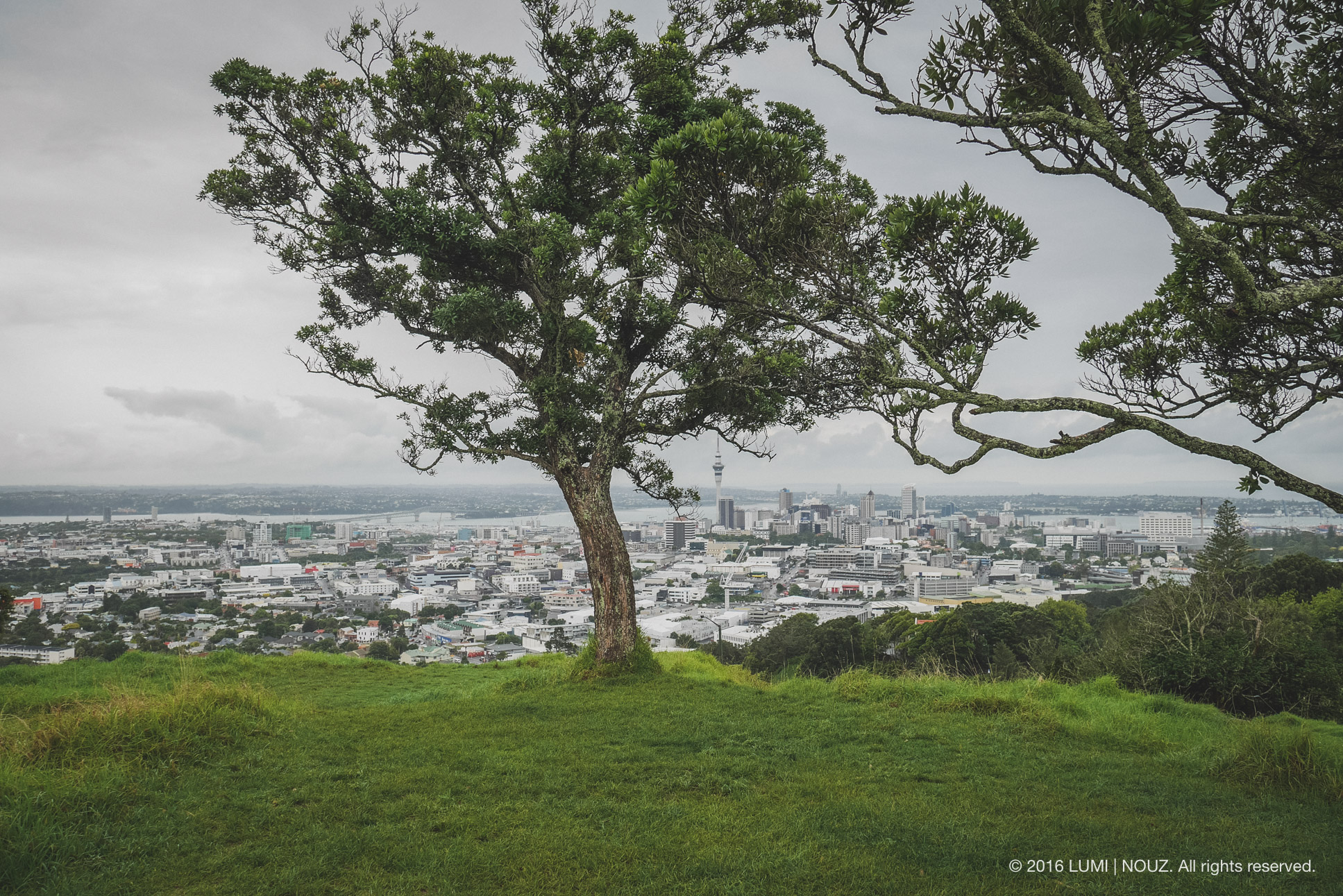 Mount Eden in Auckland, North Island, New Zealand